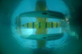Veruschka Matchett seaplane fisheye dome.jpg