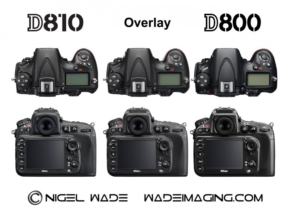 Nikon D810 Vs D800
