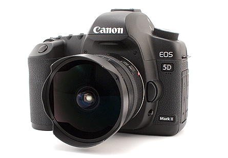 canon 5d mark II with a 15mm fisheye