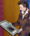 Rowlands' photo presented to Princess Anne Photo