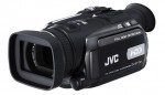 JVC showing new 3CCD Everio HD camcorder Photo
