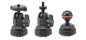 Inon offers three cold shoe mounts Photo