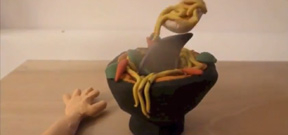 Agony in a bowl: Amazing claymation video Photo