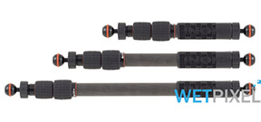 Inon ships carbon fiber telescopic strobe arms Photo