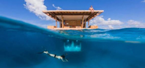 New underwater hotel room with a view Photo