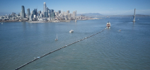 The Ocean Cleanup System 001 has been launched in the San Francisco Bay Photo