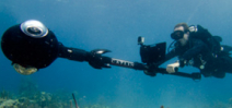 Underwater panoramic camera used to document reefs Photo
