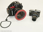 Hands on review of the Olympus EPL-1 and PT-EP01 housing. Photo