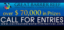 Call for entries: Cairns Underwater Film Festival Photo