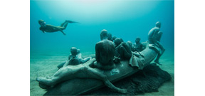 Europe's first underwater sculpture garden in place Photo