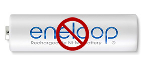 Eneloop batteries not recommended for use in strobes Photo