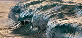 Pierre Carreau's frozen wave photography Photo