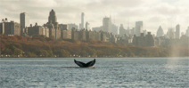 Humpback whale hanging out in Hudson River off NYC Photo