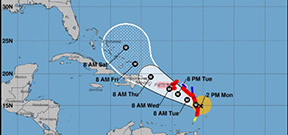 Hurricane Maria to land on the Leeward Islands tonight Photo