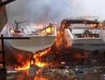 Dry dock fire destroys several Red Sea dive boats Photo