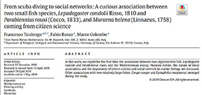 Paper emphasizes social media and citizen science in marine research Photo