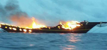 Waow liveaboard severely damaged in fire Photo