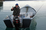 Fishing charter captain finds TOPP salmon shark tag Photo