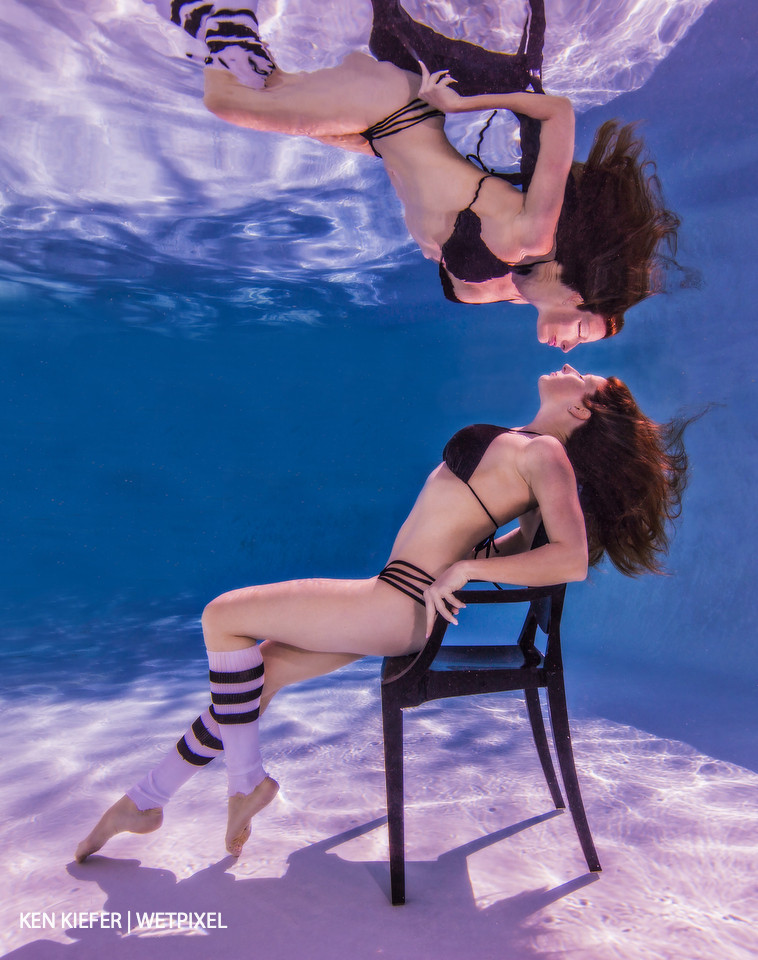 Splash dance, had to both sit underwater for over 45 seconds to allow all ripples to dissipate while the model had water in her sinuses the entire time.