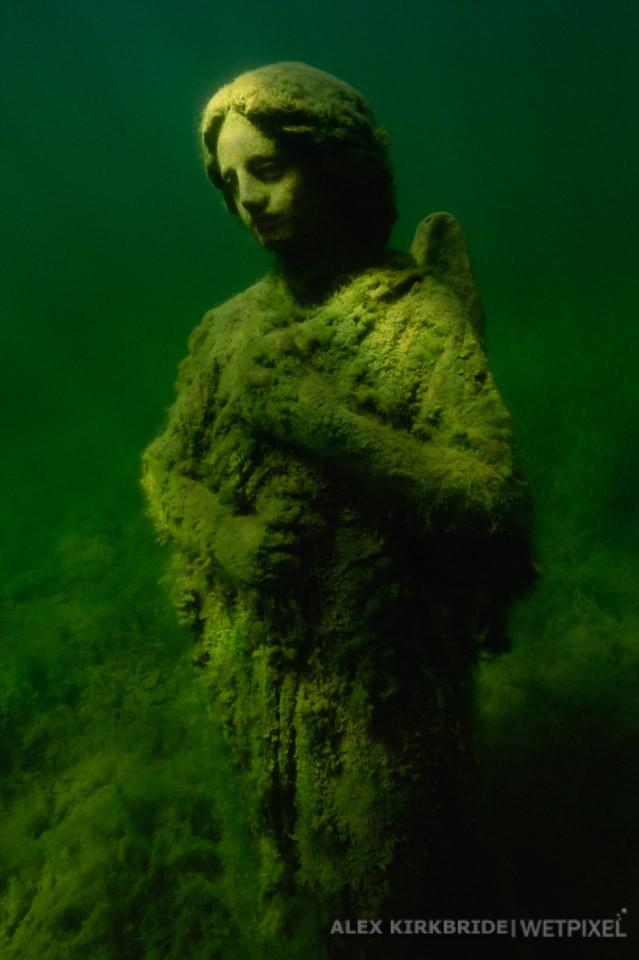 The angel at Sunset Lake, Linton, Indiana.