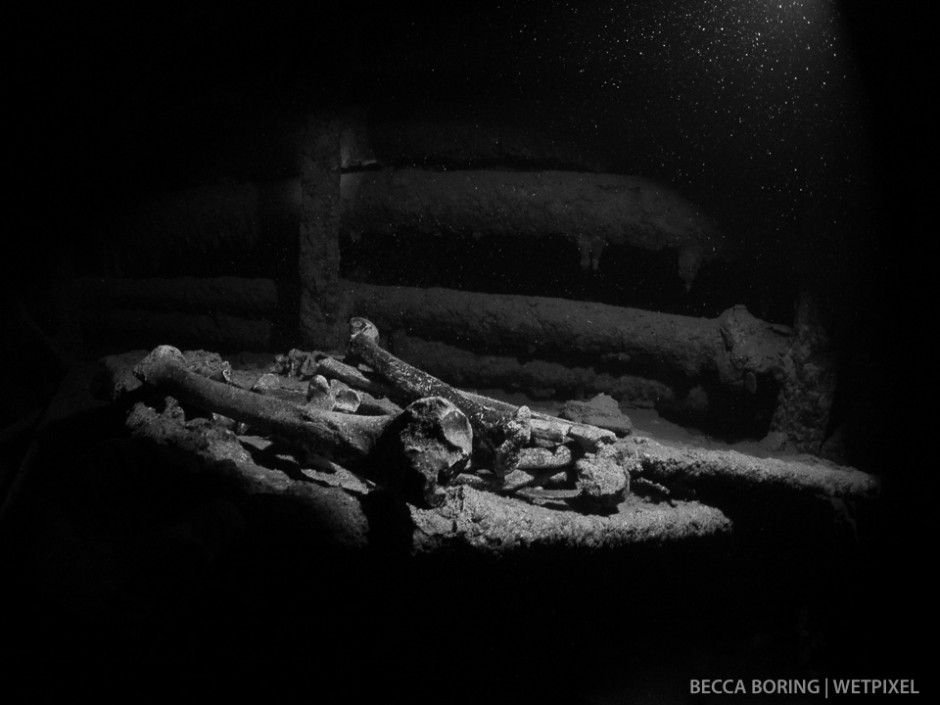 The Yamagiri Maru was another civilian ship turned military transport.  The remains are a stark reminder of the gravity of war.