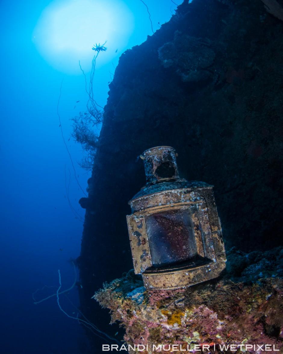 A lantern on the Momokawa Maru.