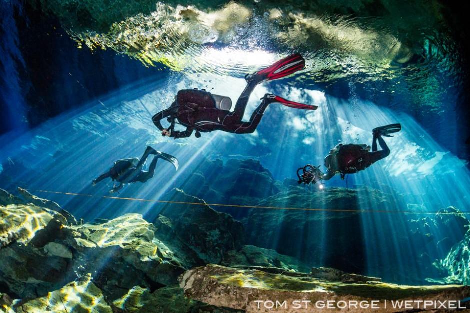 Cavern tour at Cenote Kukulkan.