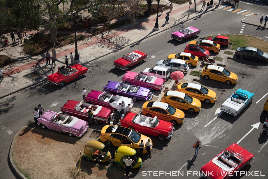 Havana is notable for the American cars from the 50s, those there before the 1959 Revolution