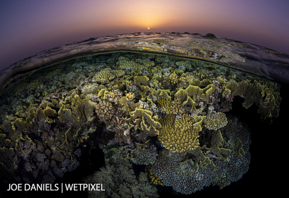 Sunset over St Johns reef.