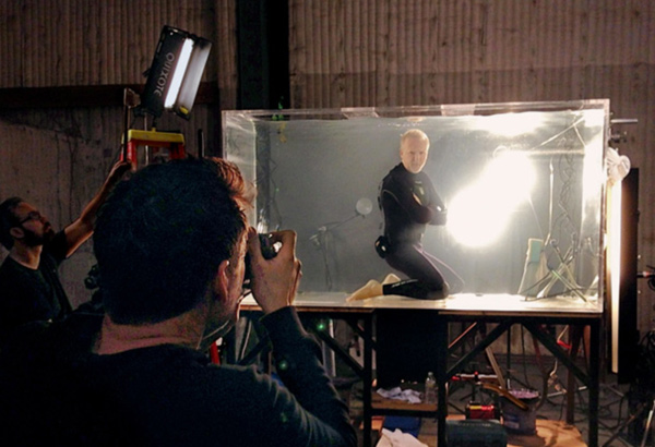 James Cameron cover photograph behind the shot