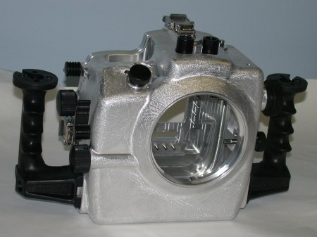 The front of the Aquatica D2x housing prototype