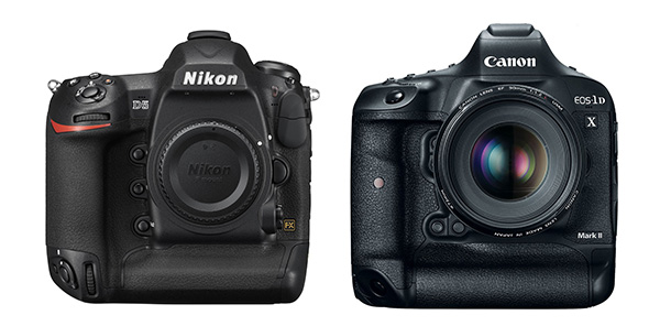 Nikon D5 and Canon ID X Mark II on Wetpixel