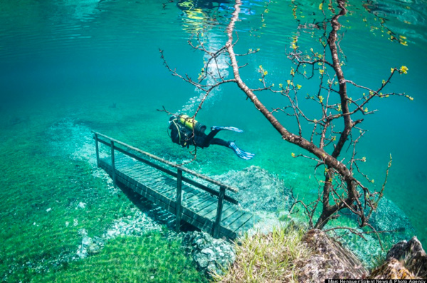 Underwater hiking