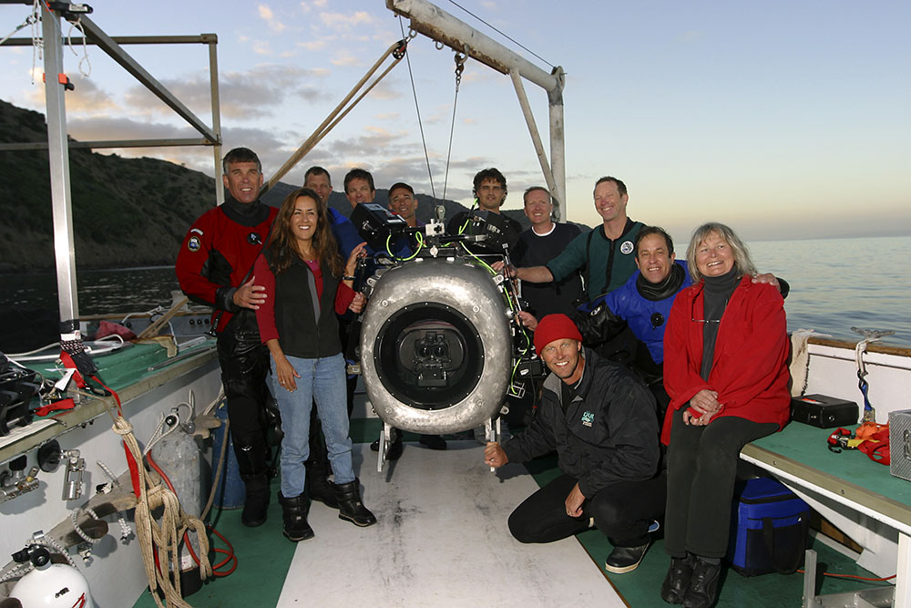 Crew during Deep Sea 3D in California, January 2005