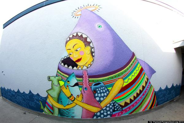 """SeaWall (дословно """"морская стена"""") - представляет собой постоянно действующую экспозицию работ художников"""