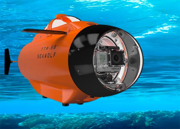 Первый подводный дрон для экшн-камер GoPro HERO3 или HERO4