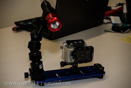 платформа (трей) и подводный фонарь для камеры GoPro POV